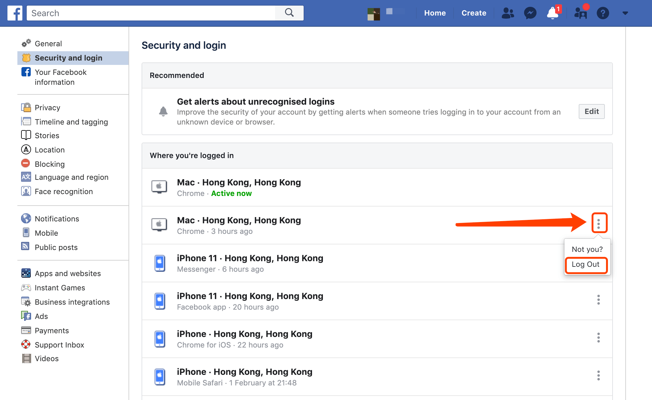 log-out-if-not-your-activity-digital-marketing-agency-hong-kong-facebook